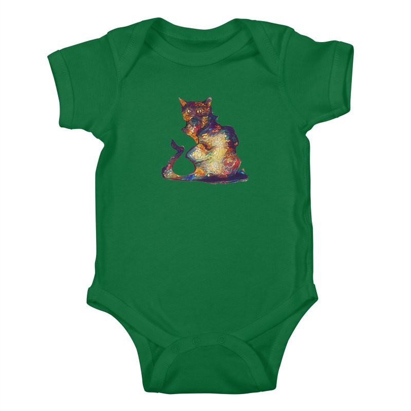 Bright and artsy Kids Baby Bodysuit by Catopathy