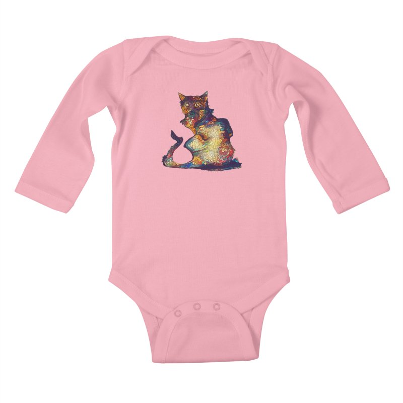 Bright and artsy Kids Baby Longsleeve Bodysuit by Catopathy