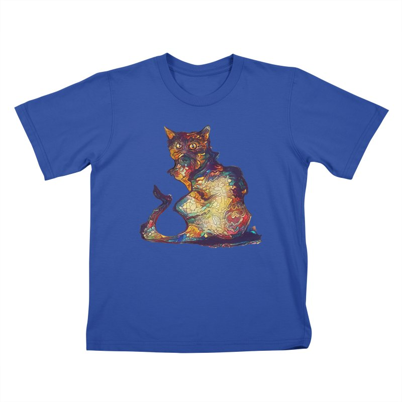 Bright and artsy Kids T-Shirt by Catopathy