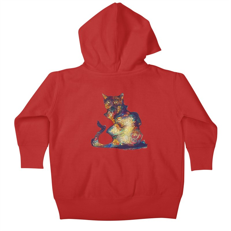 Bright and artsy Kids Baby Zip-Up Hoody by Catopathy