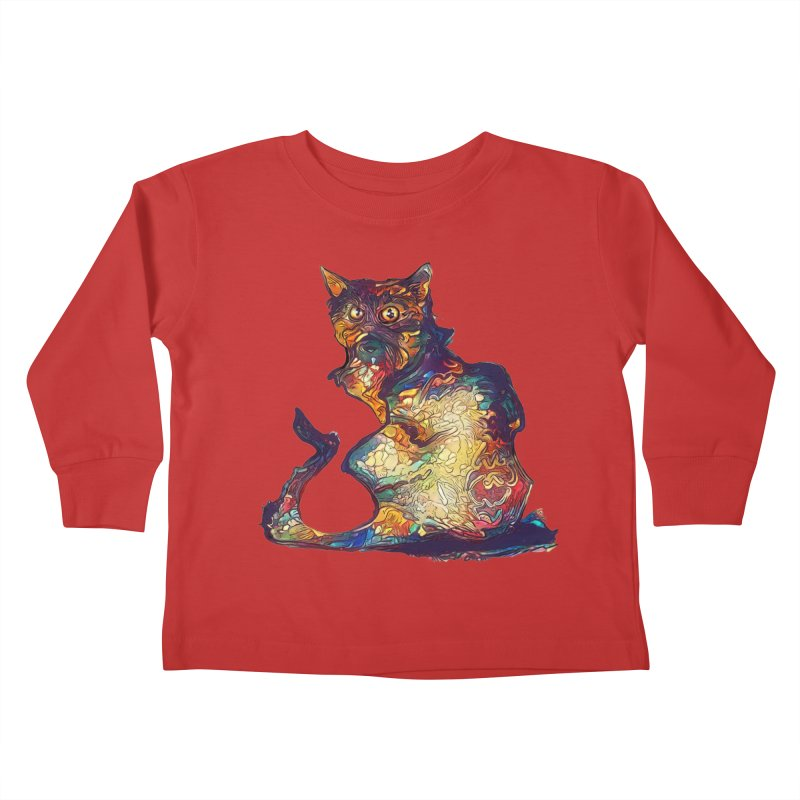 Bright and artsy Kids Toddler Longsleeve T-Shirt by Catopathy