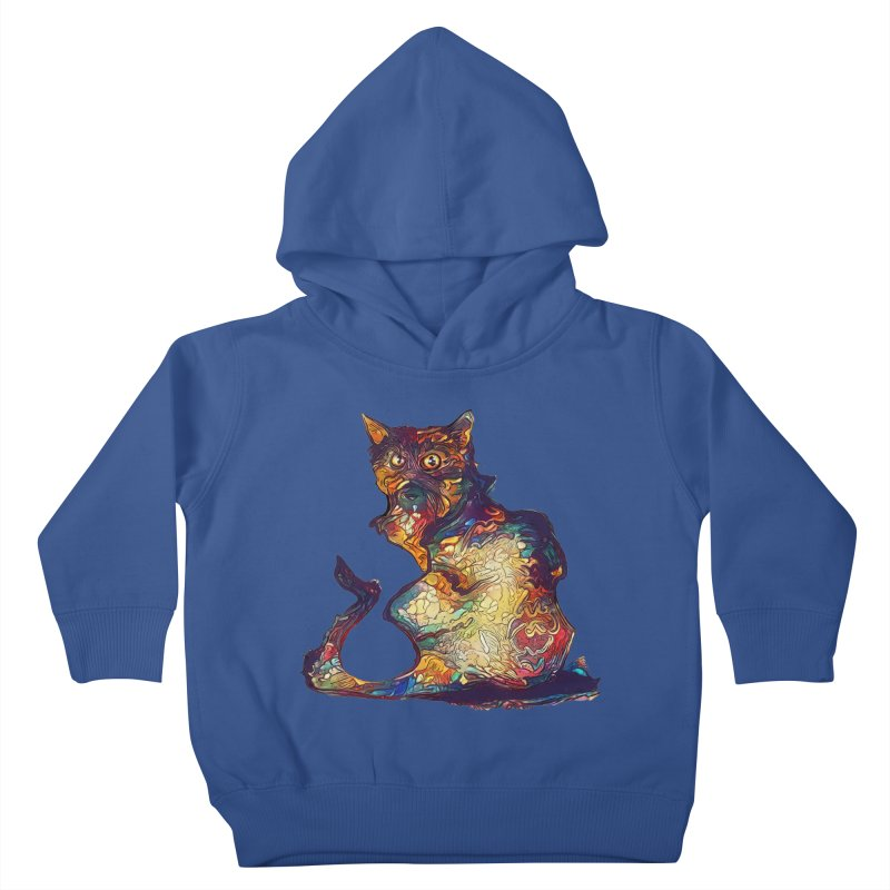 Bright and artsy Kids Toddler Pullover Hoody by Catopathy