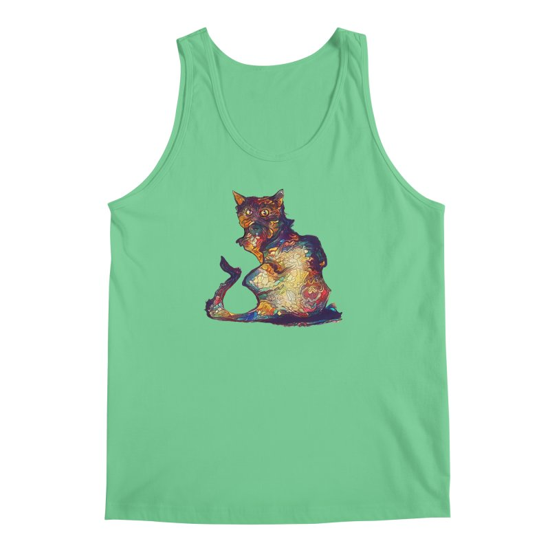 Bright and artsy Men's Tank by Catopathy