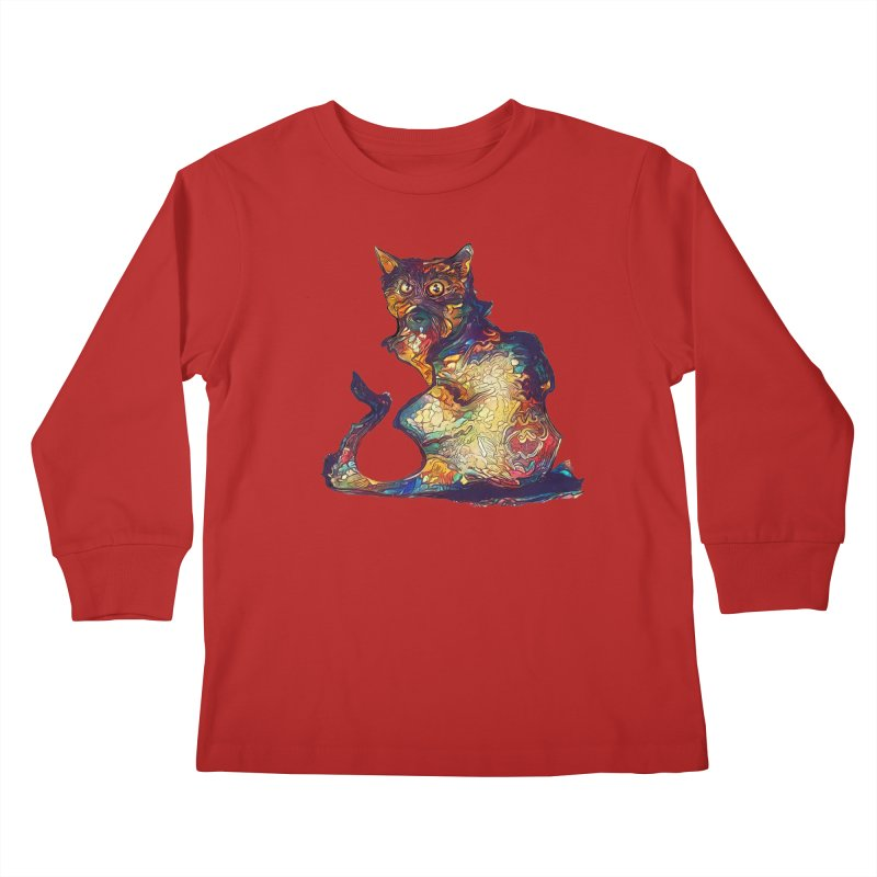 Bright and artsy Kids Longsleeve T-Shirt by Catopathy