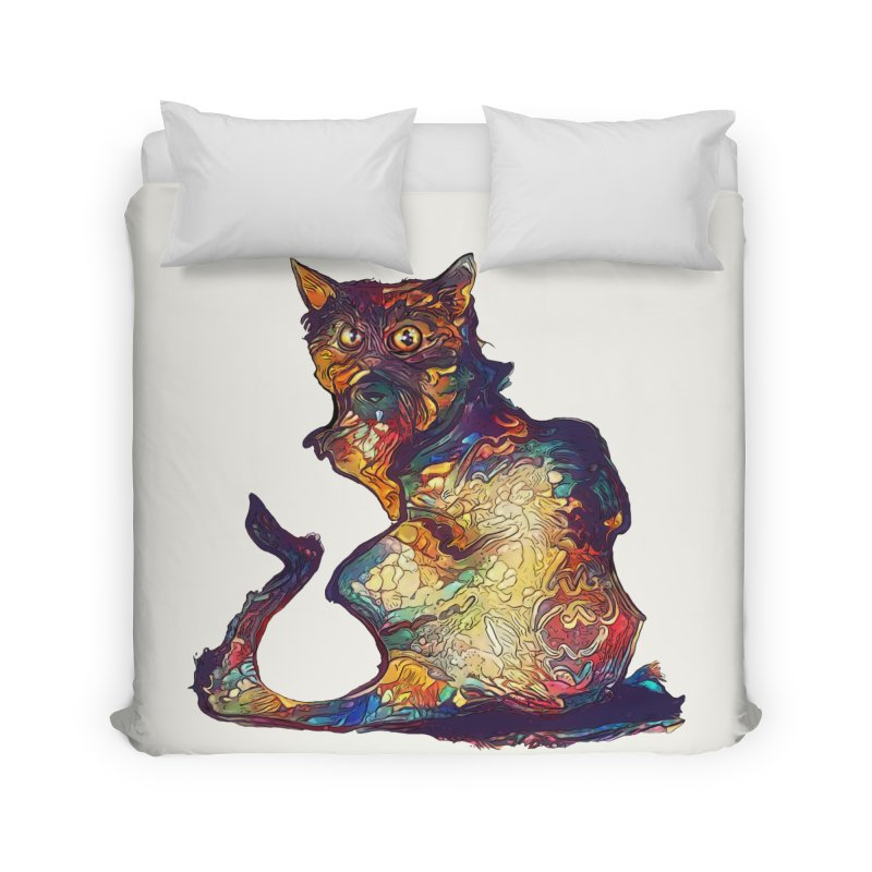 Bright and artsy Home Duvet by Catopathy