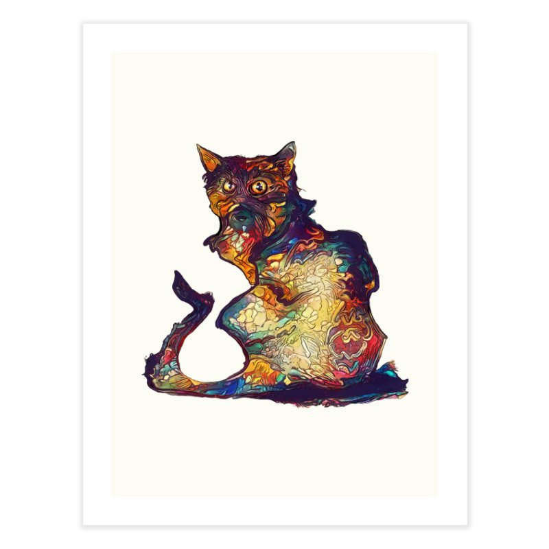 Bright and artsy Home Fine Art Print by Catopathy