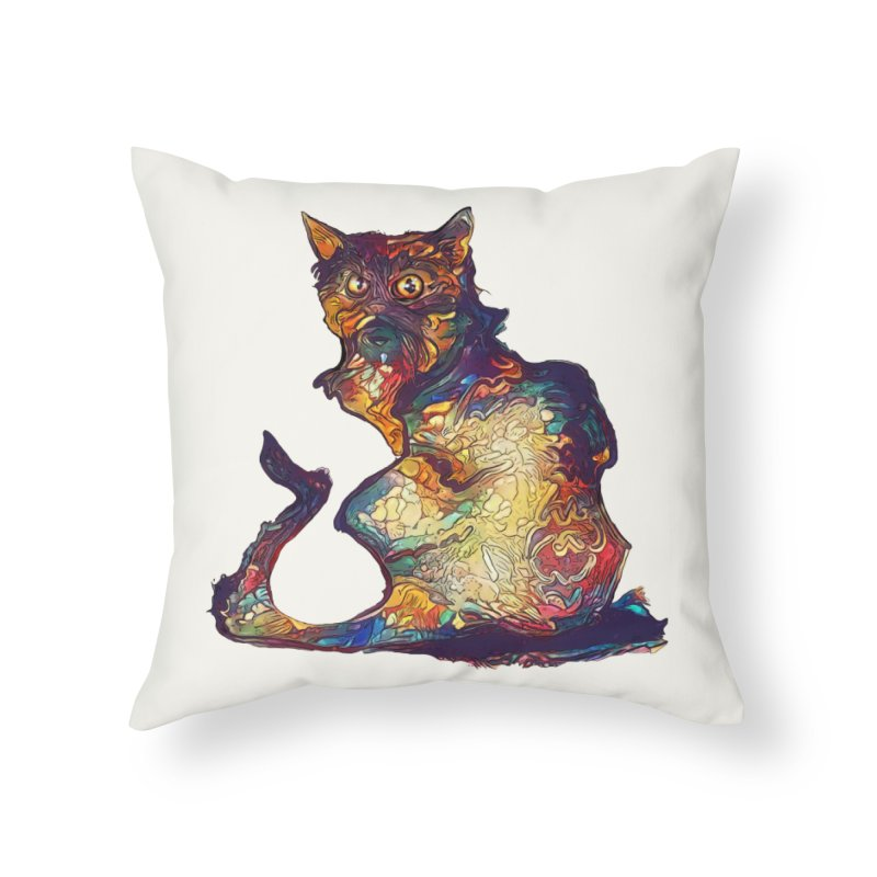 Bright and artsy Home Throw Pillow by Catopathy
