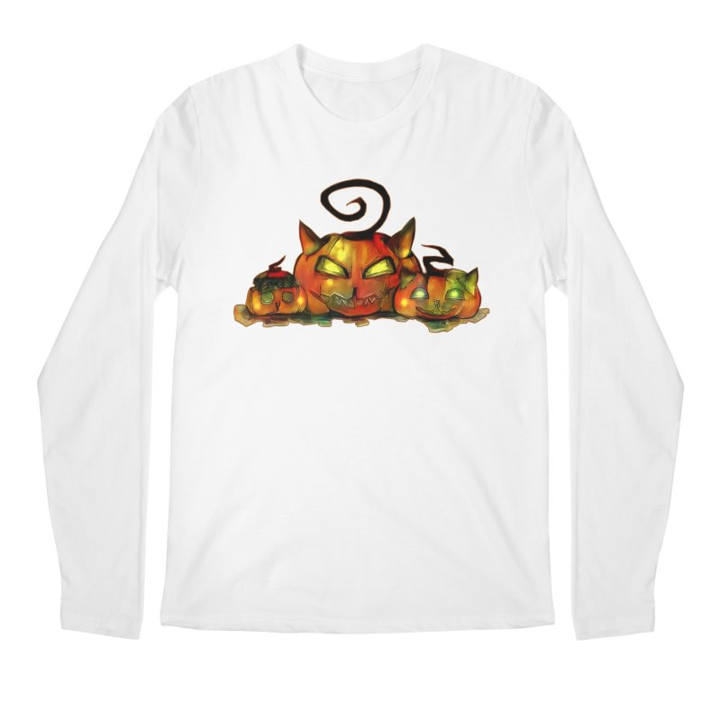 Halloween Men's Longsleeve T-Shirt by Catopathy