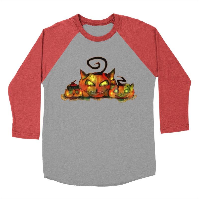 Halloween Women's Baseball Triblend T-Shirt by Catopathy