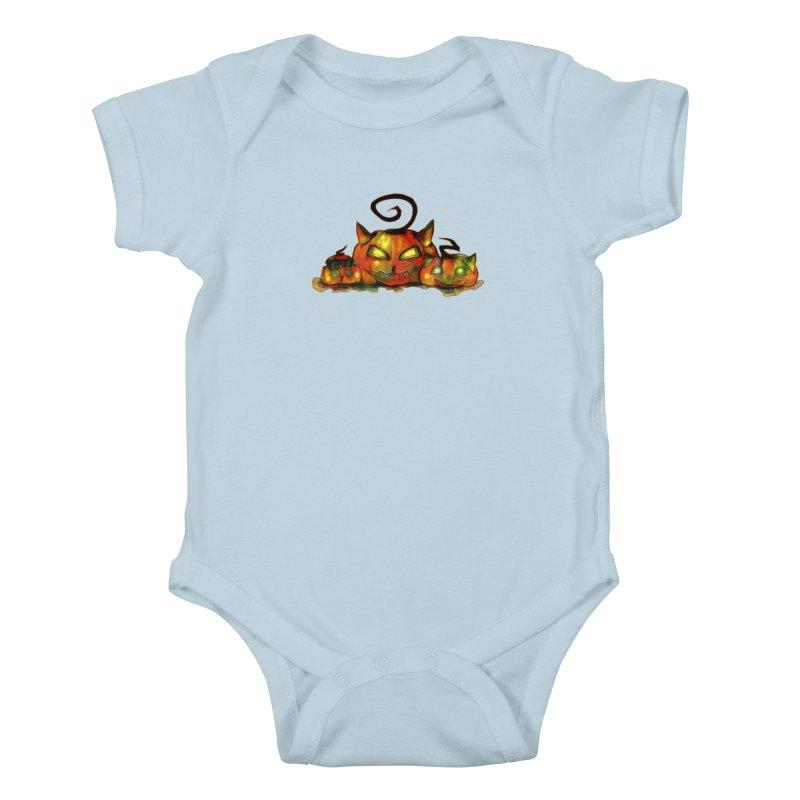 Halloween Kids Baby Bodysuit by Catopathy