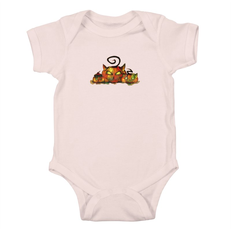 Halloween Kids Baby Bodysuit by Catopathy