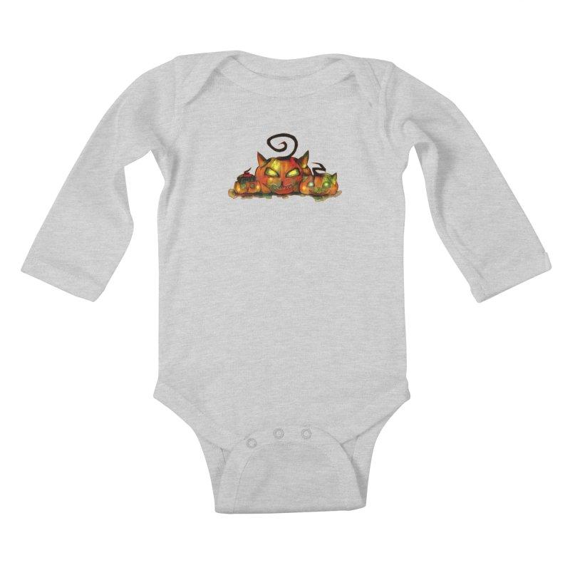 Halloween Kids Baby Longsleeve Bodysuit by Catopathy