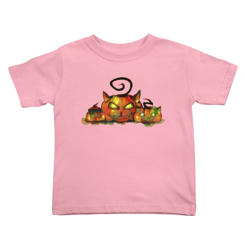 Halloween Kids Toddler T-Shirt by Catopathy