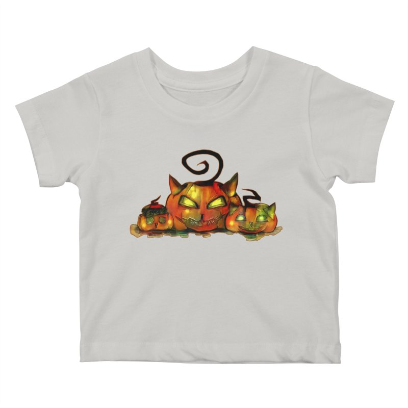 Halloween Kids Baby T-Shirt by Catopathy