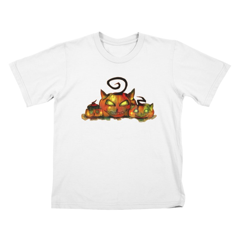 Halloween Kids T-Shirt by Catopathy