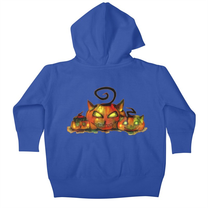 Halloween Kids Baby Zip-Up Hoody by Catopathy