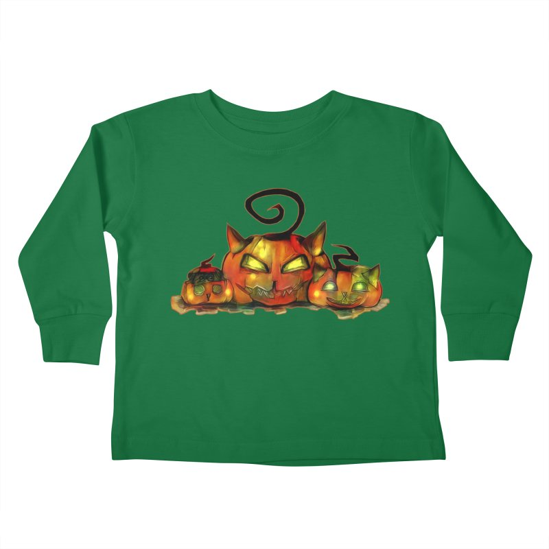 Halloween Kids Toddler Longsleeve T-Shirt by Catopathy