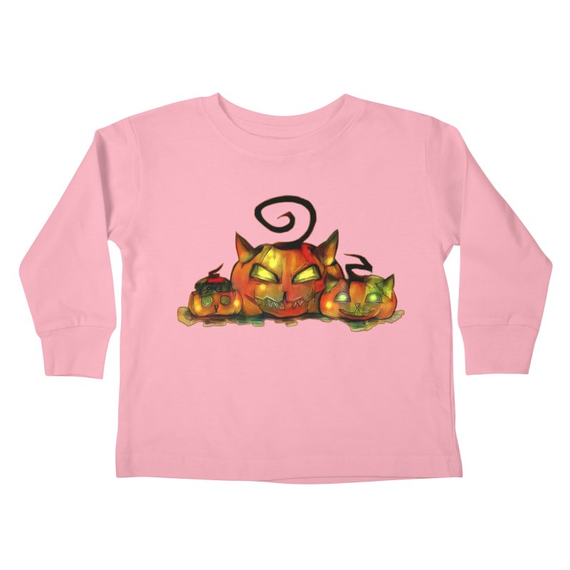 Halloween Kids Toddler Longsleeve T-Shirt by Catopathy