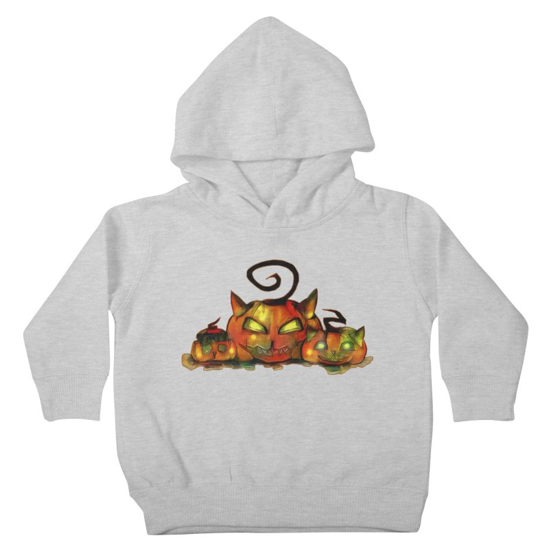 Halloween Kids Toddler Pullover Hoody by Catopathy