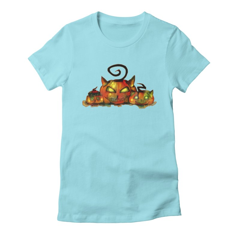 Halloween Women's Fitted T-Shirt by Catopathy