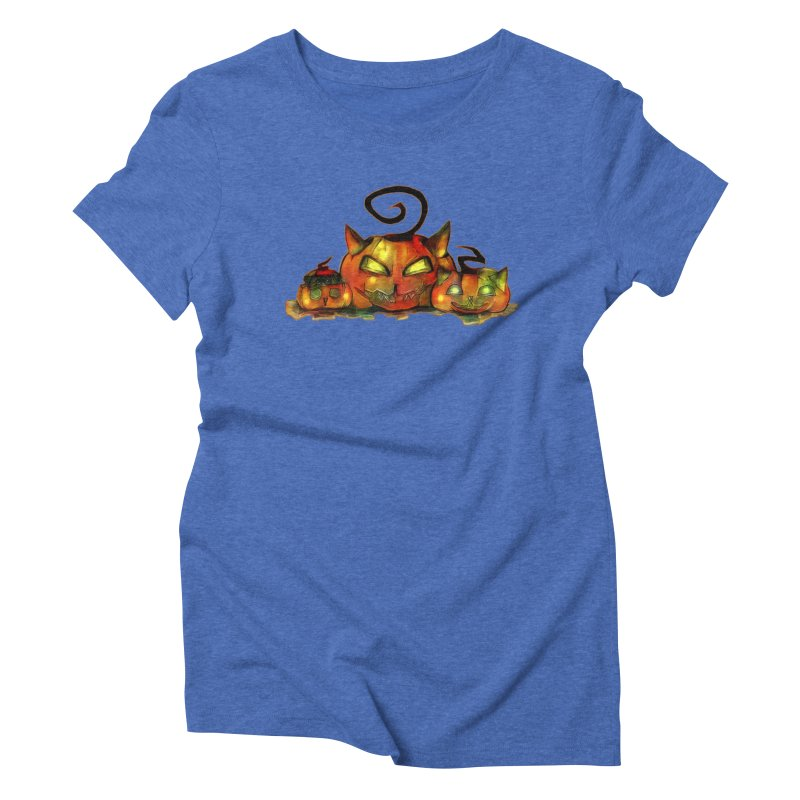 Halloween Women's Triblend T-shirt by Catopathy
