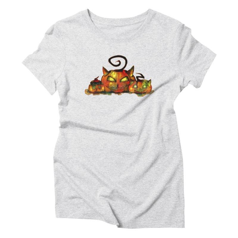Halloween Women's Triblend T-Shirt by Catopathy