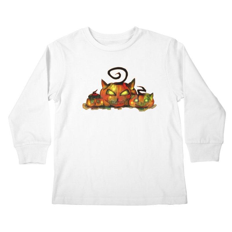 Halloween Kids Longsleeve T-Shirt by Catopathy