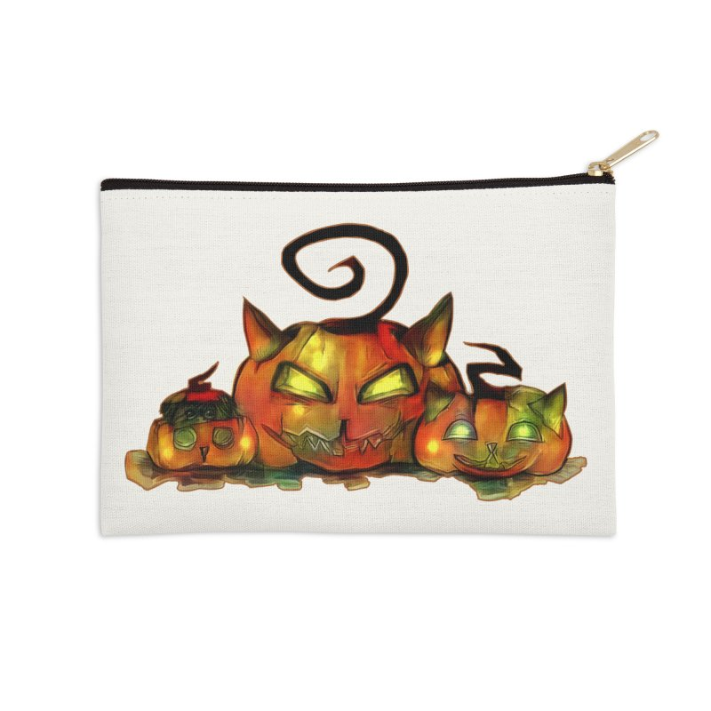 Halloween Accessories Zip Pouch by Catopathy