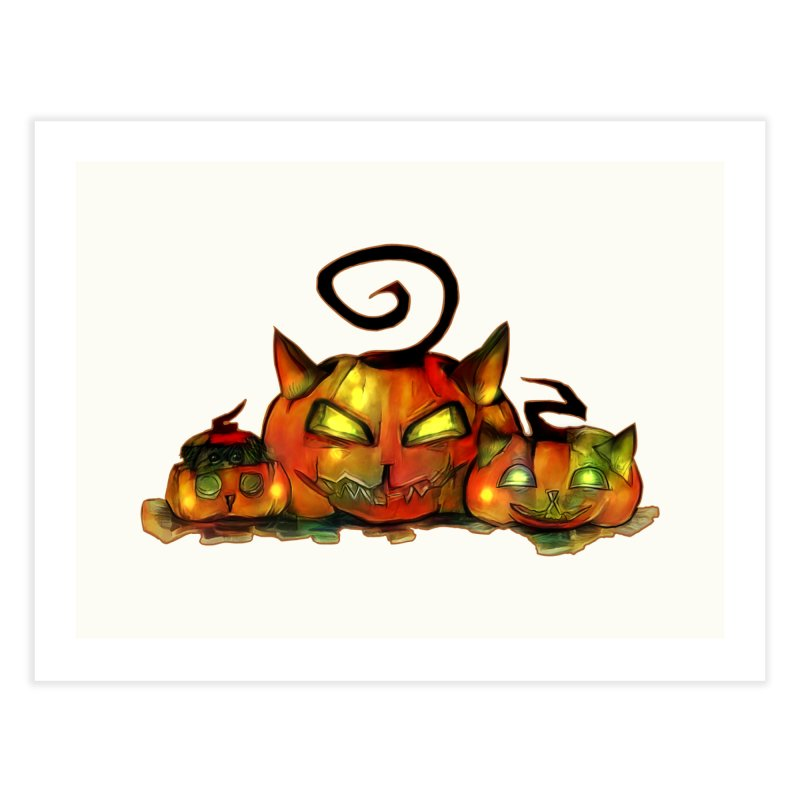 Halloween Home Fine Art Print by Catopathy