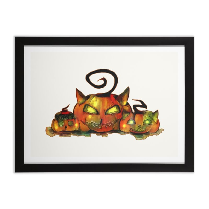 Halloween Home Framed Fine Art Print by Catopathy