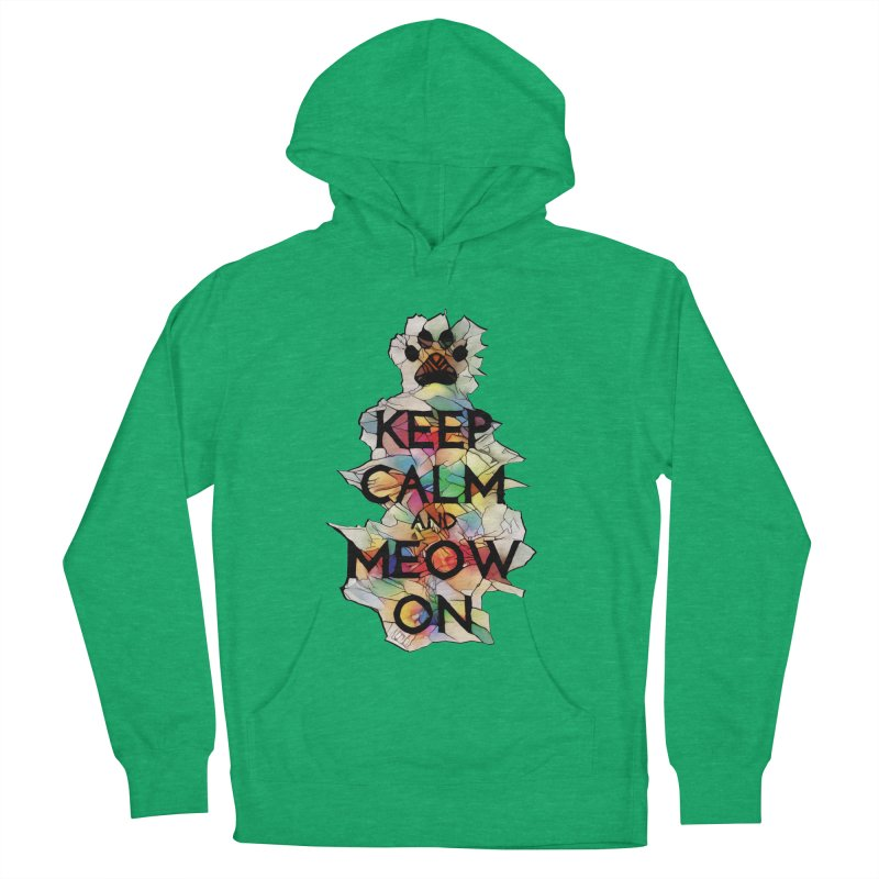 Keep Calm and Meow on Men's Pullover Hoody by Catopathy
