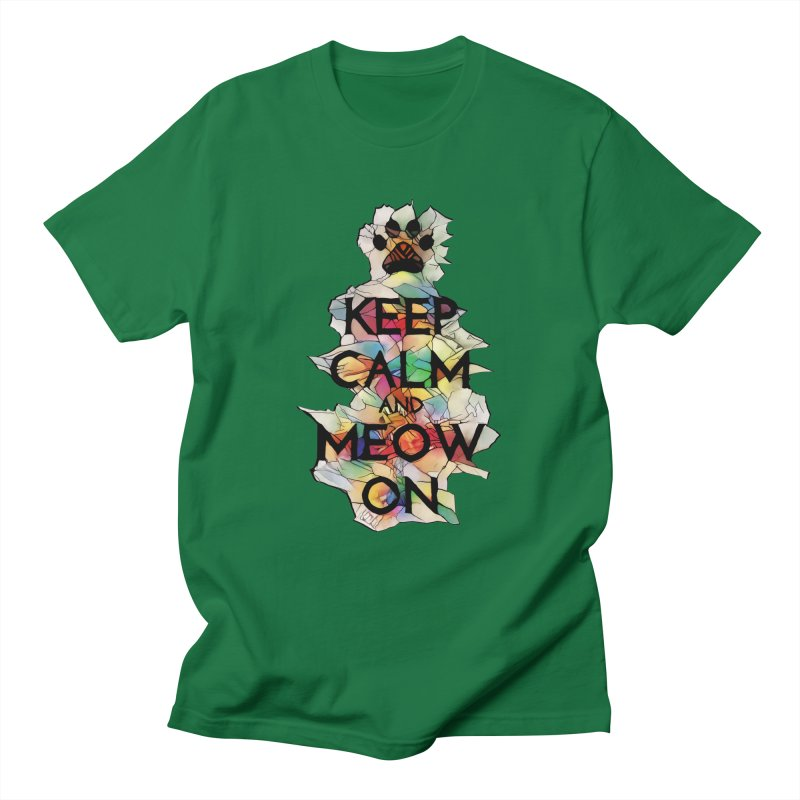 Keep Calm and Meow on Women's Unisex T-Shirt by Catopathy