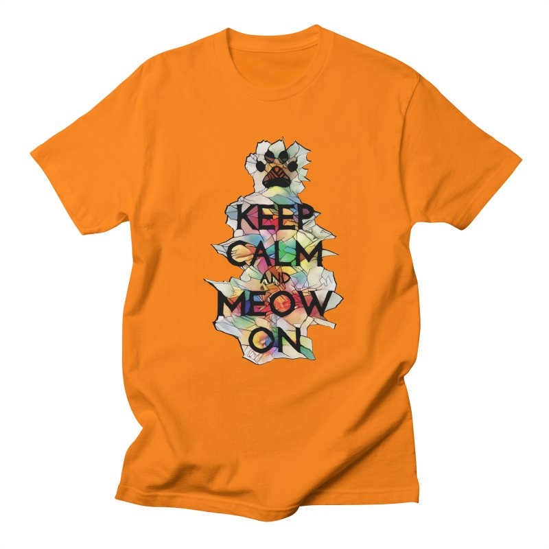 Keep Calm and Meow on Men's T-Shirt by Catopathy