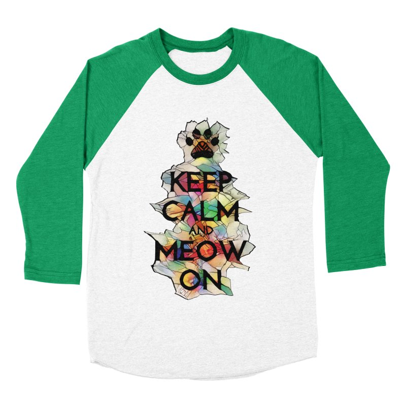 Keep Calm and Meow on Men's Baseball Triblend T-Shirt by Catopathy