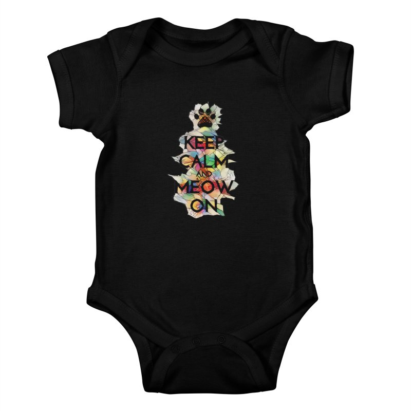 Keep Calm and Meow on Kids Baby Bodysuit by Catopathy