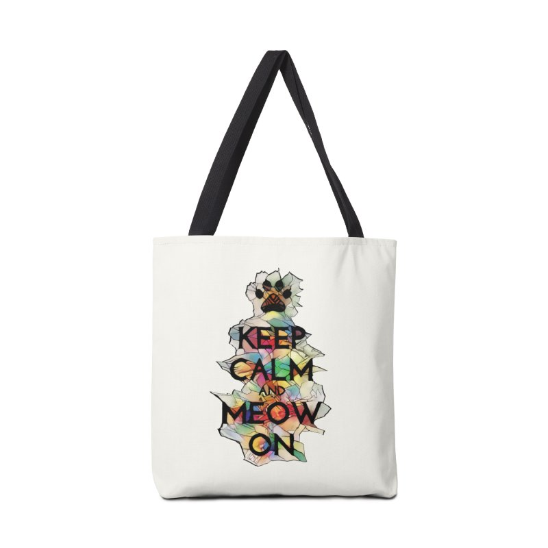 Keep Calm and Meow on Accessories Bag by Catopathy