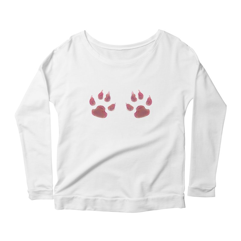 Paws Women's Longsleeve Scoopneck  by Catopathy