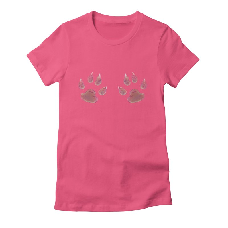 Paws Women's Fitted T-Shirt by Catopathy