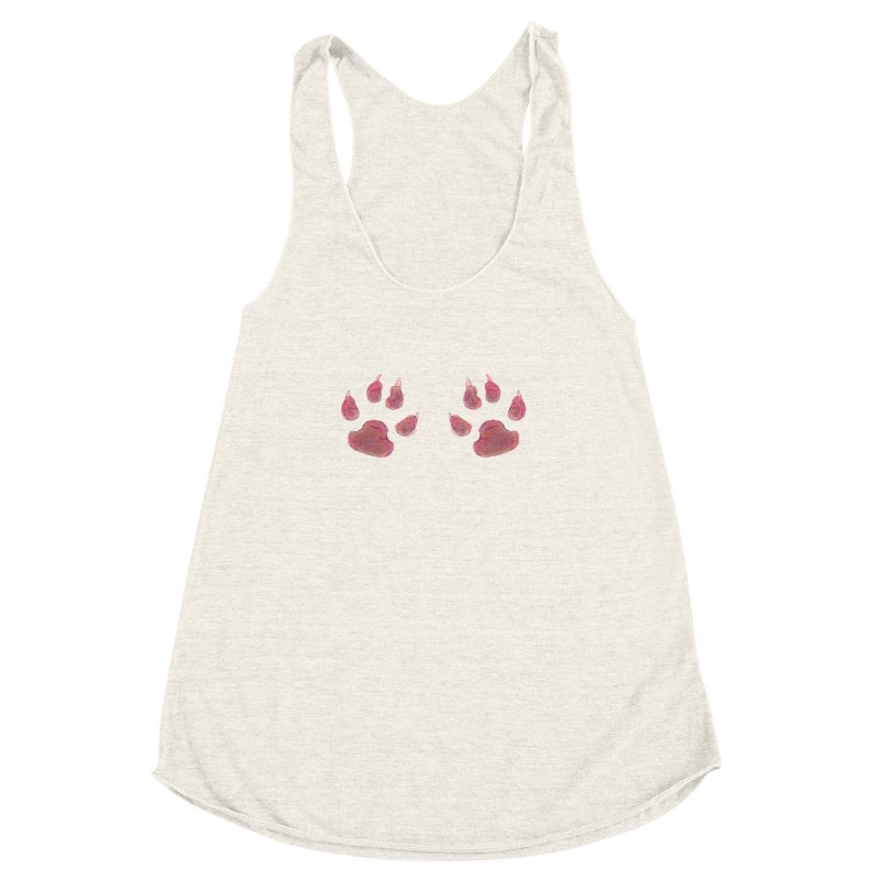 Paws Women's Racerback Triblend Tank by Catopathy