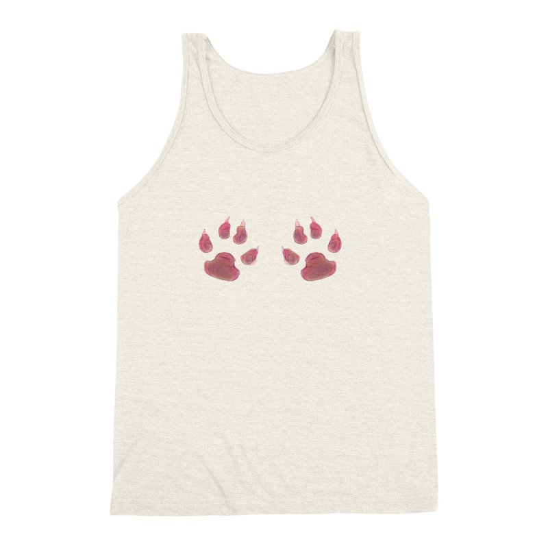 Paws Men's Triblend Tank by Catopathy