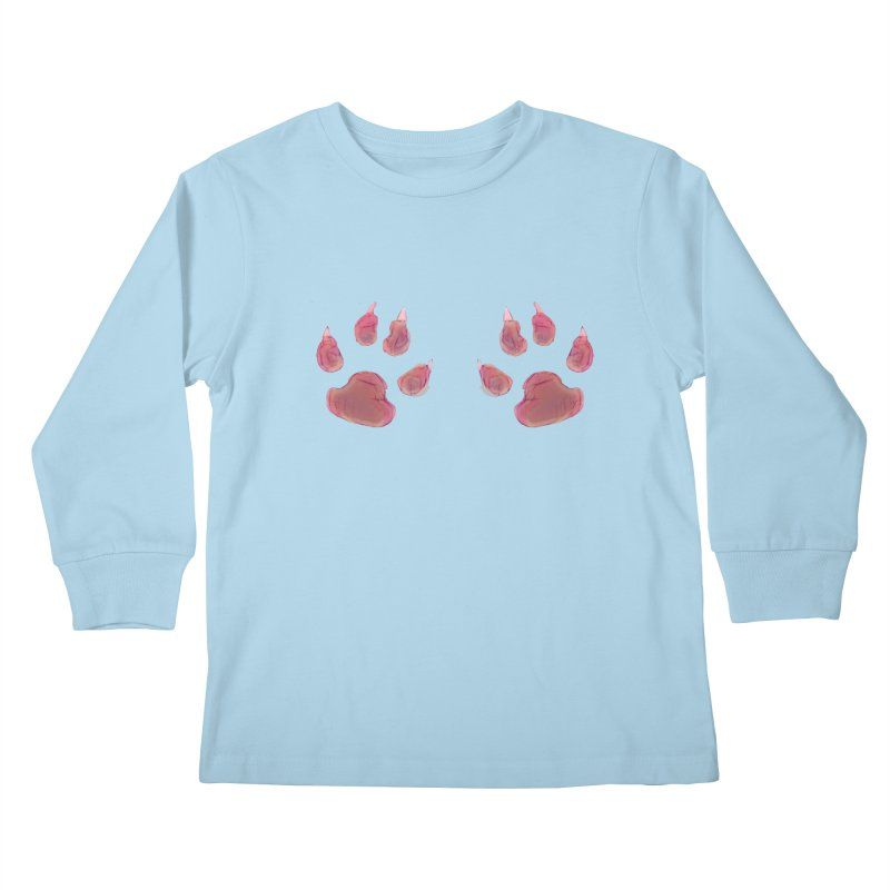 Paws Kids Longsleeve T-Shirt by Catopathy