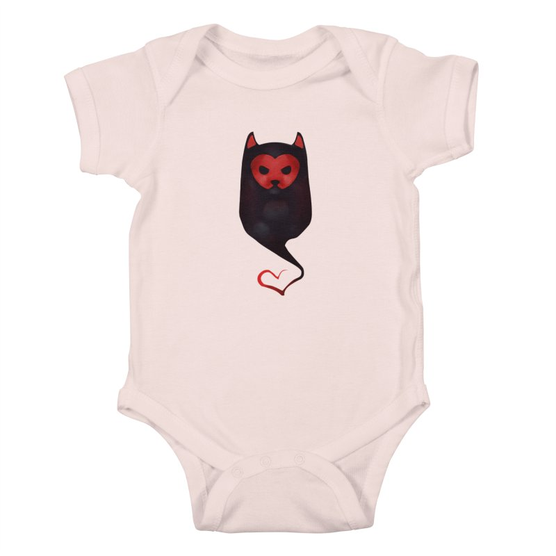 Mr. Valentine Kids Baby Bodysuit by Catopathy