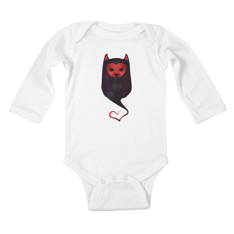 Mr. Valentine Kids Baby Longsleeve Bodysuit by Catopathy