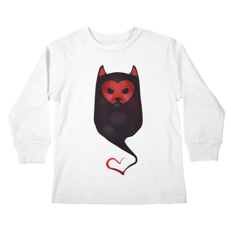 Mr. Valentine Kids Longsleeve T-Shirt by Catopathy