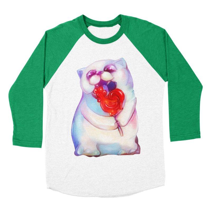 Yummy! Men's Baseball Triblend T-Shirt by Catopathy