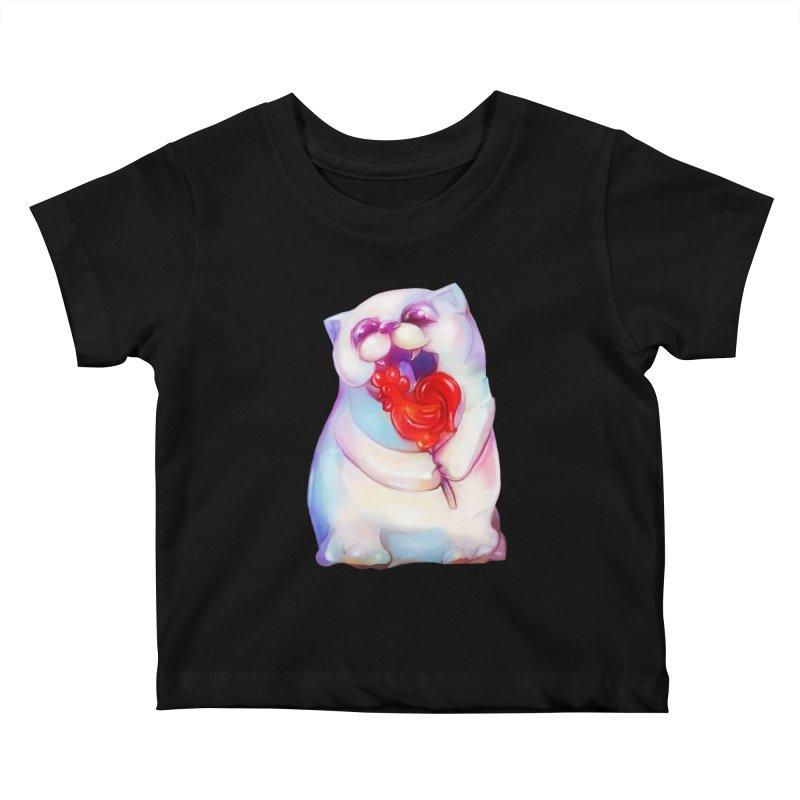 Yummy! Kids Baby T-Shirt by Catopathy