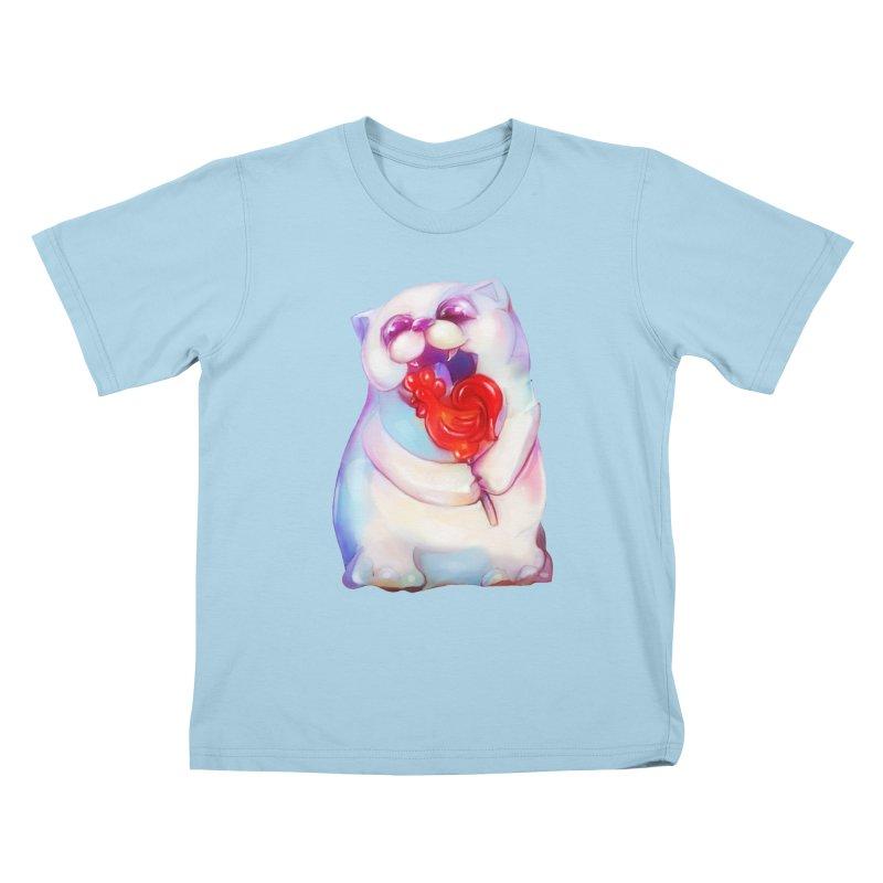 Yummy! Kids T-shirt by Catopathy