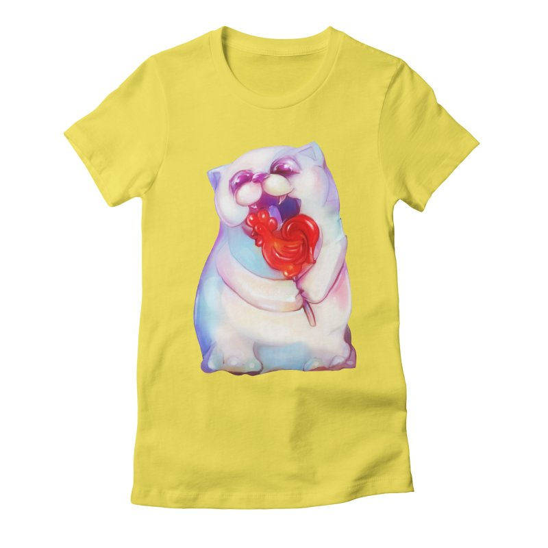 Yummy! Women's Fitted T-Shirt by Catopathy