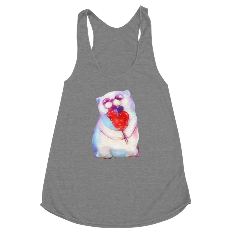 Yummy! Women's Racerback Triblend Tank by Catopathy