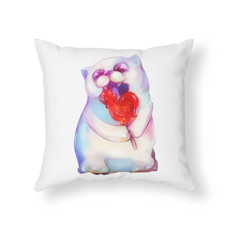 Yummy! Home Throw Pillow by Catopathy